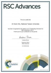 Reviewer certificate_Wu